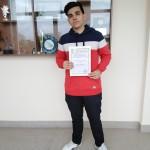 Даниел Калинов Атанасов - 12.а клас - Лауреатско звание на Националната олимпиада по Гражданско образование - 8 май 2021 година