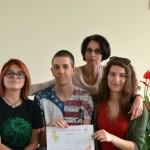 """Класирани на национален кръг на Лингвистично състезание """"Кенгуру"""", преподавател Гергана Данова"""
