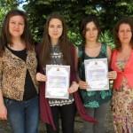 Ученици от 11ж клас - класирани на Национален кръг на многоезично състезание, преподавател Марина Георгиева