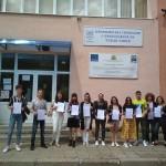 Ученици от 12.д клас с немска езикова диплома DSD1 и DSD2