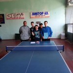 Общинско първенство по тенис на маса -  I място за отбора на ПГПЧЕ - ръководител Теодора Стефанова