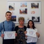 Пламен Георгиев 10-д клас и Сицилия Тошева 11-г клас - участници в Национален кръг на олимпиадата по руски език във Велинград