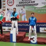 Теодор от 9 В - второ място на Световното първенство по шотокан, Варна, 2017г.