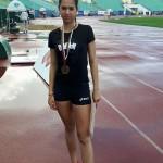 """Симона Радева от 10 """"В"""" - трето място на скок дължина в Атлетическо състезание за деца, юноши и девойки, София и второ място - скок дължина в турнир по лека атлетика във Велико Търново"""