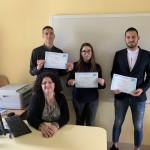 Изпит за владеене на френски език DELF B2 - Емила-Лилия Петрова, Георги Буковски и Цветан Кръстев - XIIe клас