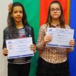 Клара Иванова Тинчева от 5а клас - II място и  Тамара Василева Ангелова от  6а клас III място