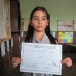 """Елица Инкова, 2в клас, Национален кръг """"Математическо Европейско кенгуру"""", 2012 година"""