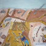 """Мартин Илиев, 3а клас, кл. ръководител г-жа Мариана Кулева, Националния конкурс за детска рисунска """"Освобождението"""", 2012 година"""