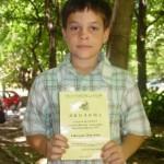 """Стелиян Нановски, 3а клас, Национален кръг """"Математическо Европейско кенгуру"""", 2012 година"""