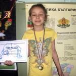 Теодора Ценова, 2б клас, І място- Златен медал от Клубен шампионат по спортна акробатика