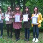 Победители от националния кръг на олимпиадата по испански език с ръководител Марина Георгиева - учител по испански език