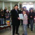 Илиан Георгиев от 4а клас - Грамота от Националния конкурс за рисунка по повод Трети март