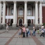 """Пред Народен театър """"Иван Вазов"""", София, 1 юни 2013"""