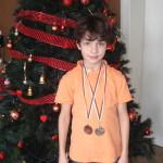 Алекс Ковачев – IIIа клас - ІІ място, сребърен медал, скок дължина и ІІІ място, бронзов медал, бягане 60м, кл. р-л: Елена Великова