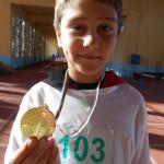 Мартин  Николов – ІVб клас, І място, златен медал - скок дължина, кл. р-л: Искра Арабаджиева